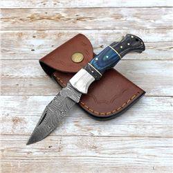Damascus Custom Folding Pocket Knife