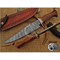 """10"""" Damascus Bowie Hunting/ Skinning Knife"""
