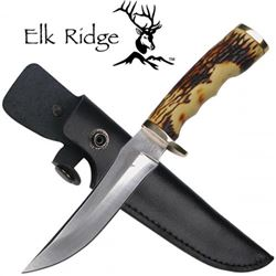 Deer Antler Hunting Knife And Sheath