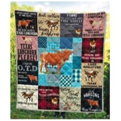 DONATION LOT - BUTLER LONGHORN KING-SIZE QUILT