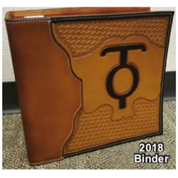 DONATION LOT - HAND-TOOLDED LEATHER BINDER