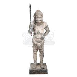 LARA CROFT: TOMB RAIDER (2001) - Temple Guardian Statue and Sword
