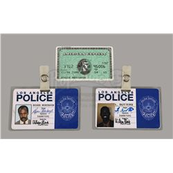 LETHAL WEAPON 4 (1998) - Detective Murtaugh's (Danny Glover) ID and Credit Card, and Lee Butters' (C