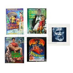 VARIOUS PRODUCTIONS  - Sir Christopher Lee Estate Collection: Four Autographed Christopher Lee Press