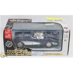 NHL SPECIAL EDITION TOP DOG 57 CORVETTE 1:24 SCALE