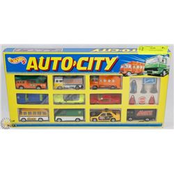 HOTWHEELS AUTO CITY BOXED SET.