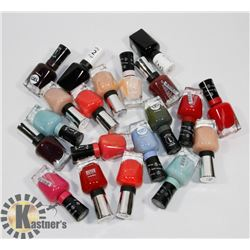 BAG OF ASSORTED NAIL POLISH.