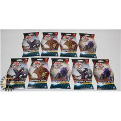 9 PACKS BAKUGAN BATTLE BRAWLERS BOOSTER PACKS.