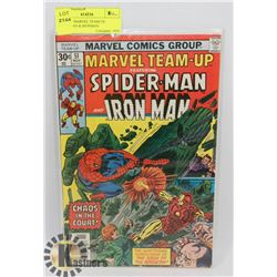 VINTAGE MARVEL TEAM UP, SPIDERMAN & IRONMAN