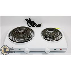 NEW AUTO 2 BURNER HOT PLATE.