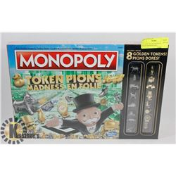 FACTORY SEALED MONOPOLY TOKEN MADNESS INCL