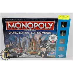 FACTORY SEALED MONOPOLY WORLD EDITION.
