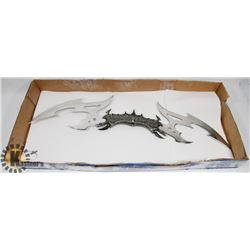 LARGE KIT RAE VALDRIS DOUBLE EDGED FANTASY SWORD.