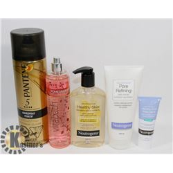 BAG OF ASSORTED BATHROOM PRODUCTS INCLUDING