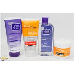 BAG OF ACNE CLEANSERS AND MORE