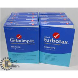 BUNDLE OF 8 TURBO TAX STANDARD FOR 2018 TAX YEAR