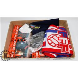 SAFETY CLEATS, SCARF, NECK WARMER FLAT