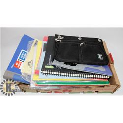 LOT OF NEW SCHOOL SUPPLIES, NOTEBOOKS, DUOTANGS