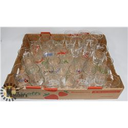 FLAT OF ASSORTED COLLECTOR GLASSES INCLUDING