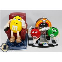 LOT OF 2 M&M DISPENSERS.