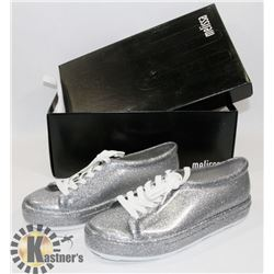 LADIES NEW SHOES MELISSA GLITTER SILVER