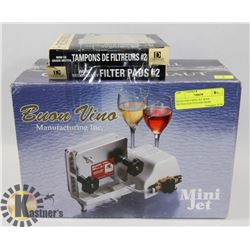 BUON VINO MINI JET WINE FILTRATION SYSTEM FROM