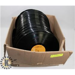 LARGE BOX OF VINYL LP'S INCLUDES ELVIS, CHER AND