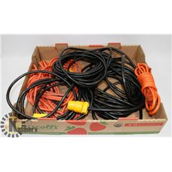 FLAT OF HEAVY DUTY EXTENSION CORDS