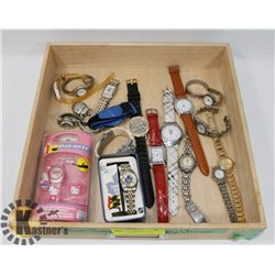 FLAT OF WOMENS WATCHES.