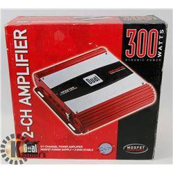 DUAL AMPLIFIER 2 CHANNEL 300 WATTS.