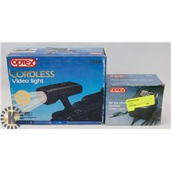 OPTEX CORDLESS VIDEO LIGHT WITH AC ADAPTOR