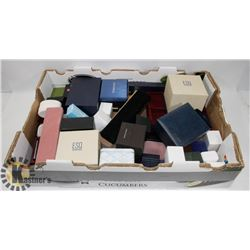 LARGE FLAT OF JEWELLERY BOXES, WATCH BOXES, INC