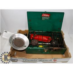 COLEMAN CAMPING STOVE & PROPANE HEATER