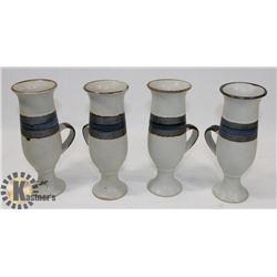 SET OF 4 UNIQUE CERAMIC CUPS