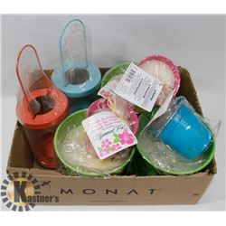 LOT OF ASSORTED CITRONELLA CANDLES