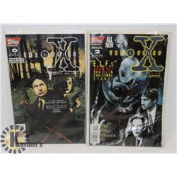 X FILES COMIC BOOKS #0 AND ANNUAL #2