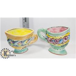 HAND CRAFTED UNIQUE TEA CUPS
