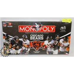 NEW MONOPOLY CHICAGO BEARS COLLECTORS EDITION