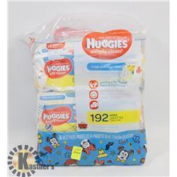 192 PACK OF HUGGIES WIPES