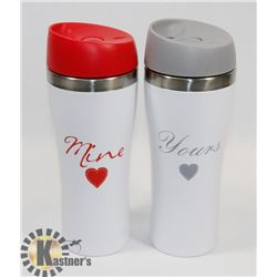 MINE YOURS THERMOS SET