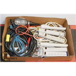 TRAY OF POWER CABLES AND POWER BARS