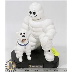 VINTAGE MICHELIN MAN AND DOG BOBBLE HEAD.