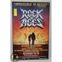 ROCK OF THE AGES PLAQUE SIGNED