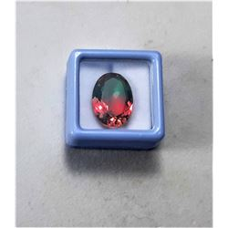 6)  OVAL 9.5 CT NATURAL WATERMELON