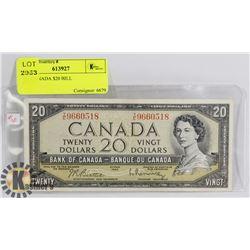 1954 CANADA $20 BILL