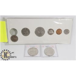 1974 COINS SET, 1969 $1 COIN, 1973, $1 COIN