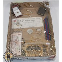 FLAT OF ASSORTED COLLECTIBLES, JEWELLERY AND