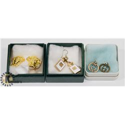 3 PAIRS OF REPLICA DESIGNER EARRINGS