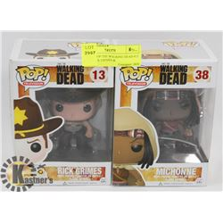 FUNKO POP THE WALKING DEAD #13 & #38 RICK GRIMES &