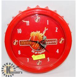 MCDONALDS COKE WALL CLOCK